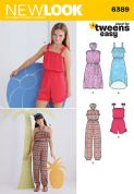 6389 New Look Pattern: Girls' Easy Jumpsuit, Romper and Dresses